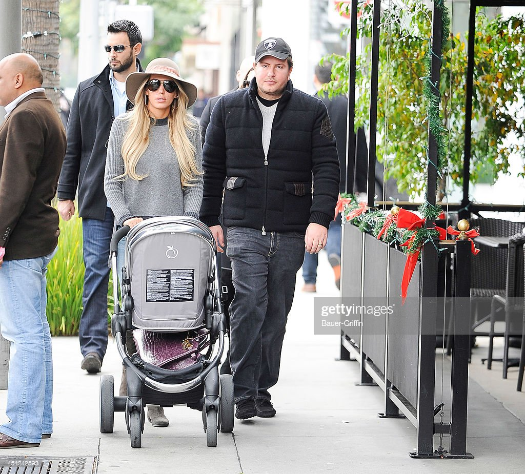 Petra Ecclestone with daughter, Lavinia Stunt are seen on December 07, 2013 in Los Angeles, California.