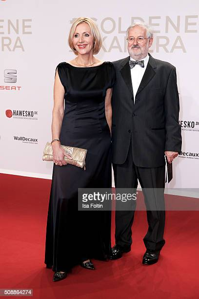 Petra Gerster and her husband Christian Nuernberger attend the Goldene Kamera 2016 on February 6 2016 in Hamburg Germany