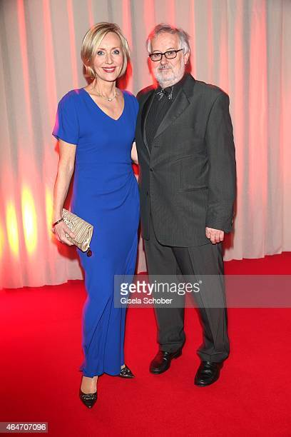 Petra Gerster and her husband Christian Nuernberger during the Goldene Kamera 2015 reception on February 27 2015 in Hamburg Germany