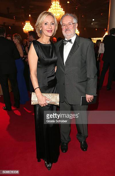 Petra Gerster and her husband Christian Nuernberger during the Goldene Kamera 2016 reception on February 6 2016 in Hamburg Germany