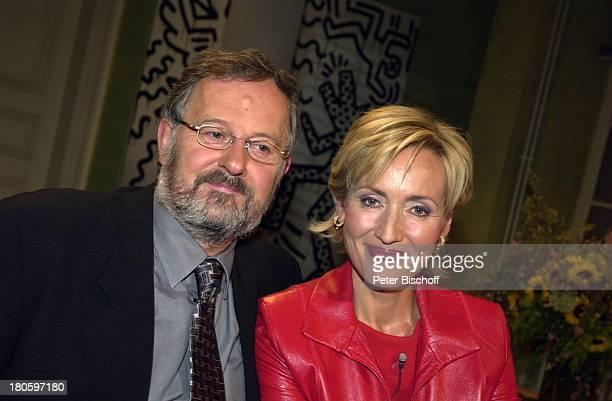 Petra Gerster Ehemann Christian Nürnberger ARDTalkshow 'Boulevard Bio' Folge 408 'Gegensätze ziehen sich an' Brille Bart Mann