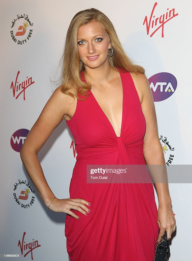 Petra Kvitova arrives at the WTA Tour PreWimbledon Party at The Roof Gardens Kensington on June 21 2012 in London England