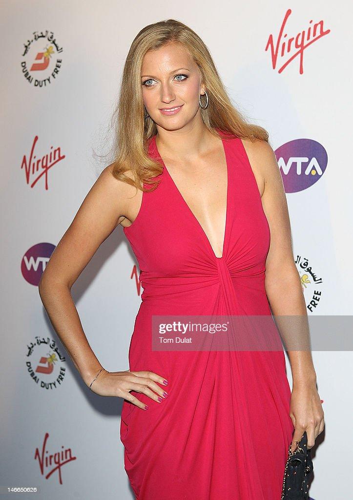Petra Kvitova arrives at the WTA Tour Pre-Wimbledon Party at The Roof Gardens, Kensington on June 21, 2012 in London, England.