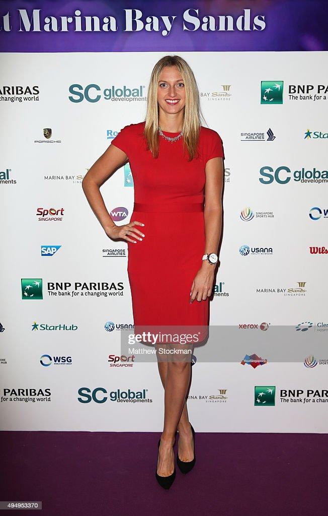 Petra Kvitova attends Singapore Tennis Evening during BNP Paribas WTA Finals at Marina Bay Sands on October 30, 2015 in Singapore.