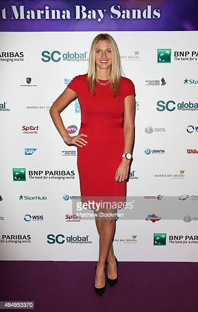 Petra Kvitova attends Singapore Tennis Evening during BNP Paribas WTA Finals at Marina Bay Sands on October 30 2015 in Singapore
