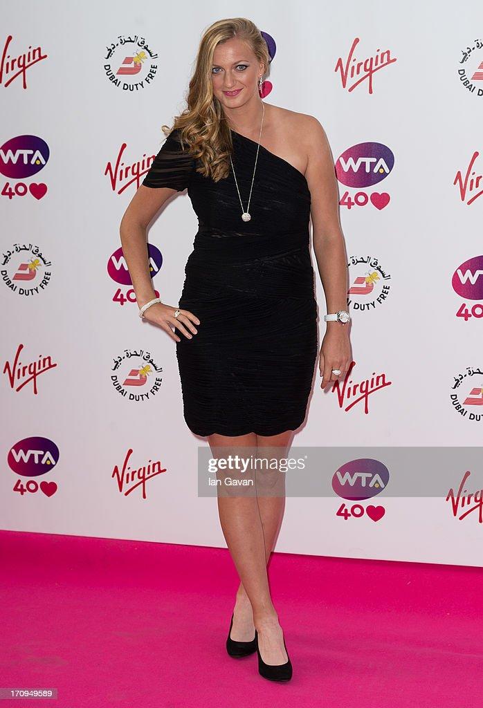Petra Kvitova attends the annual preWimbledon party at Kensington Roof Gardens on June 20 2013 in London England