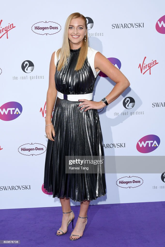 Petra Kvitova attends the WTA Pre-Wimbledon party at Kensington Roof Gardens on June 29, 2017 in London, England.