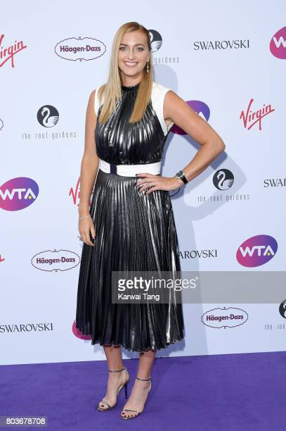 Petra Kvitova attends the WTA PreWimbledon party at Kensington Roof Gardens on June 29 2017 in London England