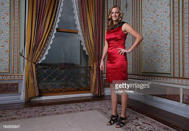 Petra Kvitova of Czech Republic poses for a portrait during previews for the TEB BNP Paribas WTA Championships Istanbul on October 21 2012 in...