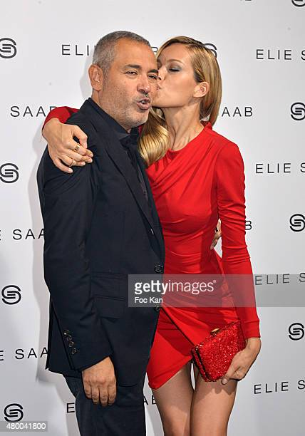 Petra Nemcova and Elie Saab attend the Elie Saab show as part of Paris Fashion Week Haute Couture Fall/Winter 2015/2016 on July 8 2015 in Paris France