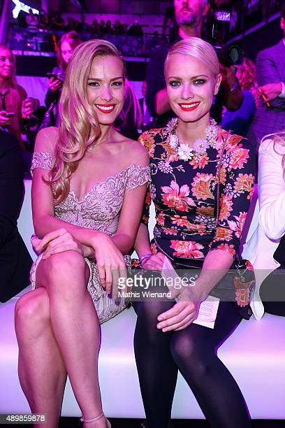 Petra Nemcova and Franziska Knuppe attend the Icons Idols No 3 event to celebrate the 10th anniversary of InTouch magazine on September 24 2015 in...