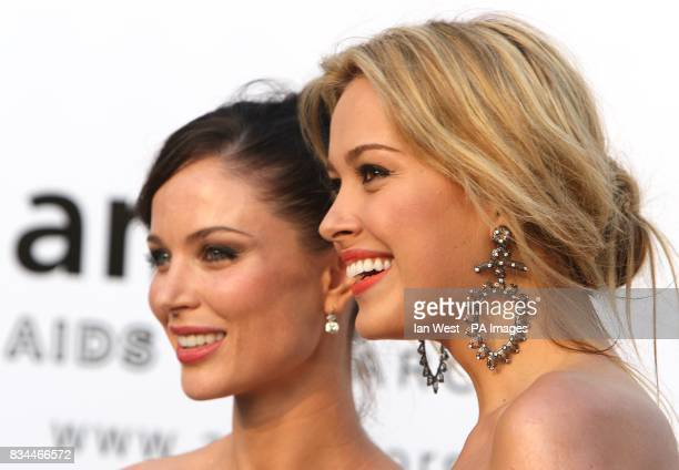 Petra Nemcova and Georgina Chapman arrives for the amfAR Gala during the 61st Cannes Film Festival in Cannes France