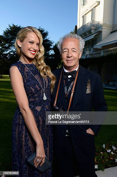 Petra Nemcova and Gilles Bensimon attend amfAR's 20th Annual Cinema Against AIDS during The 66th Annual Cannes Film Festival at Hotel du CapEdenRoc...