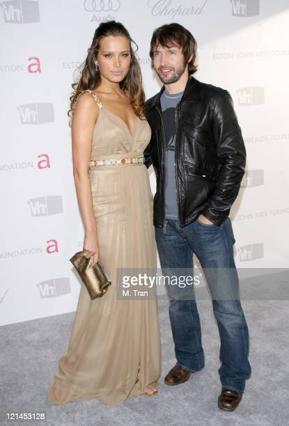 Petra Nemcova and James Blunt during 15th Annual Elton John AIDS Foundation Oscar Party at Pacific Design Center in Los Angeles California United...