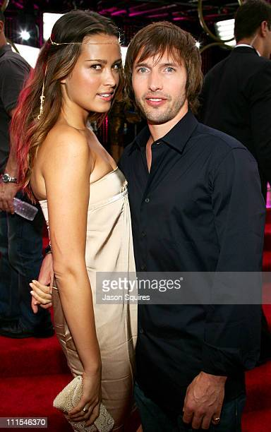 Petra Nemcova and James Blunt during 2006 MTV Video Music Awards MTVcom Red Carpet at Radio City Music Hall in New York City New York United States