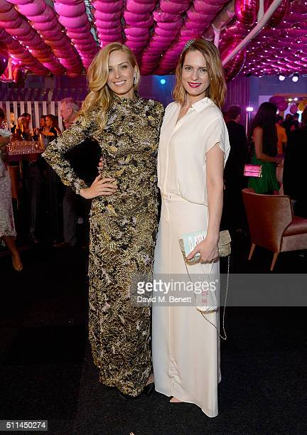 Petra Nemcova and Karolina Bosakova at The Naked Heart Foundation's Fabulous Fund Fair in London at Old Billingsgate Market on February 20 2016 in...