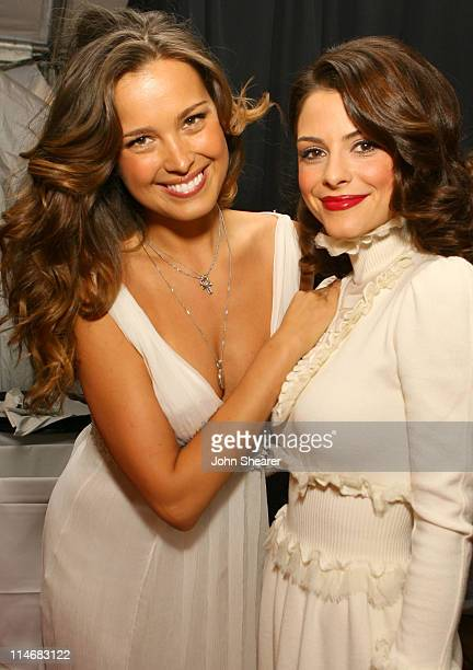 Petra Nemcova and Maria Menounos during 2007 GM Style Backstage at GM Pavilion in Detroit Michigan United States