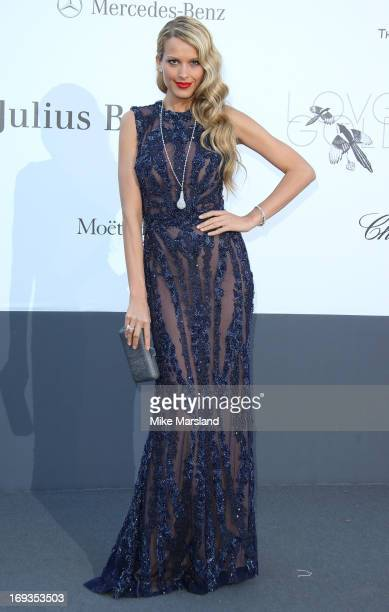 Petra Nemcova arrives at amfAR's 20th Annual Cinema Against AIDS at Hotel du CapEdenRoc on May 23 2013 in Cap d'Antibes France