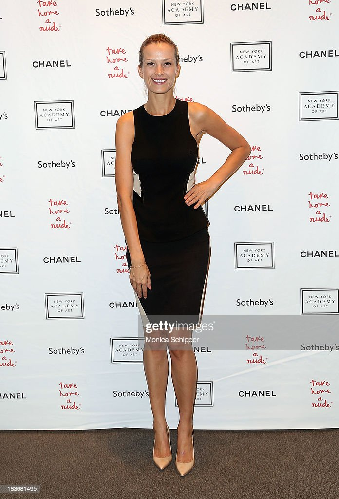 <a gi-track='captionPersonalityLinkClicked' href=/galleries/search?phrase=Petra+Nemcova&family=editorial&specificpeople=201716 ng-click='$event.stopPropagation()'>Petra Nemcova</a> attends 2013 'Take Home A Nude' Benefit Art Auction And Party at Sotheby's on October 8, 2013 in New York City.