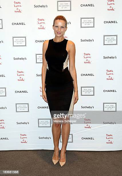 Petra Nemcova attends 2013 'Take Home A Nude' Benefit Art Auction And Party at Sotheby's on October 8 2013 in New York City