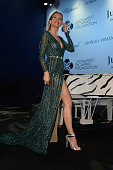 Petra Nemcova attends a Dinner and Auction during The Leonardo DiCaprio Foundation 2nd Annual SaintTropez Gala at Domaine Bertaud Belieu on July 22...