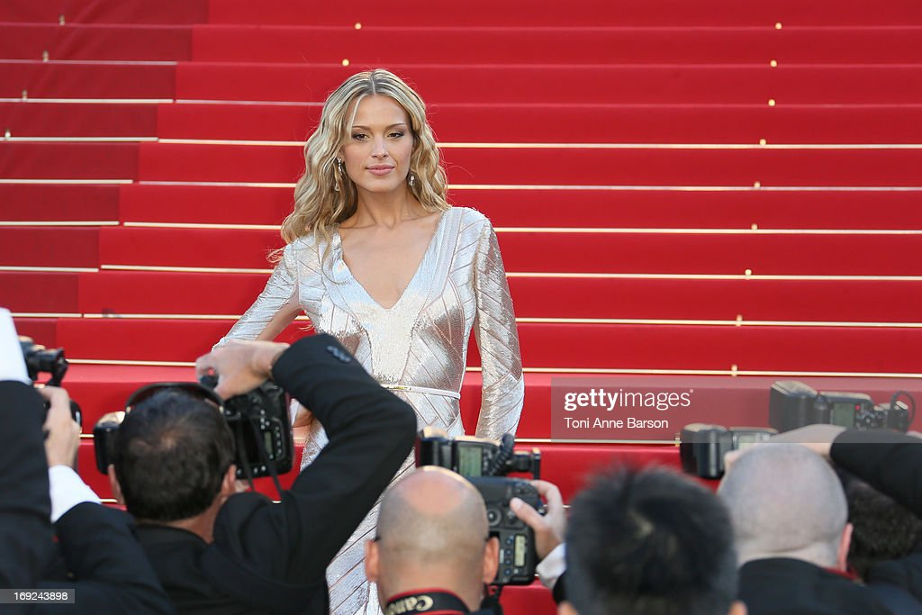 <a gi-track='captionPersonalityLinkClicked' href=/galleries/search?phrase=Petra+Nemcova&family=editorial&specificpeople=201716 ng-click='$event.stopPropagation()'>Petra Nemcova</a> attends 'Behind The Candelabra' Premiere during The 66th Annual Cannes Film Festival on May 21, 2013 in Cannes, France.
