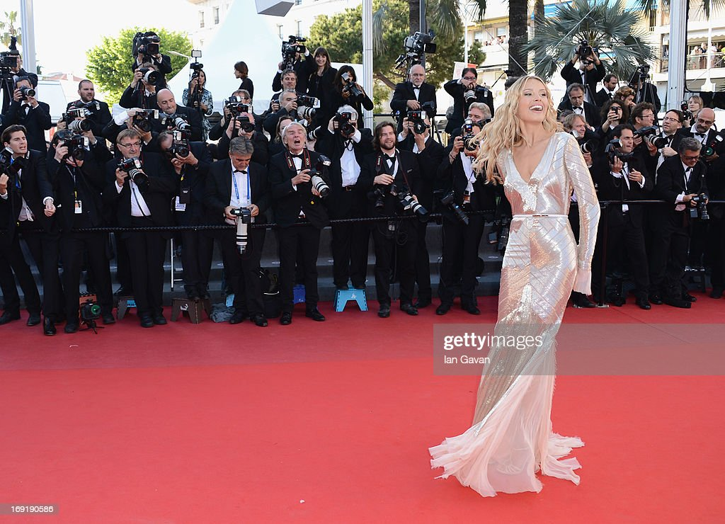 Petra Nemcova attends the 'Behind The Candelabra' Premiere during the 66th Annual Cannes Film Festival at Grand Theatre Lumiere on May 21, 2013 in Cannes, France.