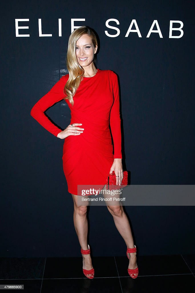 Petra Nemcova attends the Elie Saab show as part of Paris Fashion Week Haute Couture Fall/Winter 2015/2016. Held at Pavillon Cambon Capucines on July 8, 2015 in Paris, France.