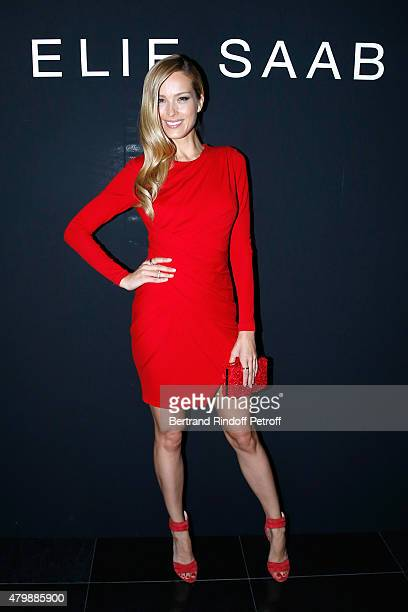 Petra Nemcova attends the Elie Saab show as part of Paris Fashion Week Haute Couture Fall/Winter 2015/2016 Held at Pavillon Cambon Capucines on July...