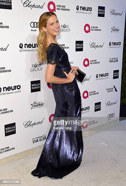 Petra Nemcova attends the Elton John AIDS Foundation's 23rd annual Academy Awards Viewing Party at The City of West Hollywood Park on February 22...