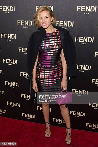Petra Nemcova attends the Fendi New York Flagship Boutique Inauguration Party during Mercedes Benz Fashion Week Fall 2015 at Fendi Madison Avenue on...