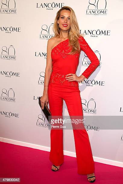 Petra Nemcova attends the Lancome 80th Anniversary Party as part of Paris Fashion Week Haute Couture Fall/Winter 2015/2016 on July 7 2015 in Paris...