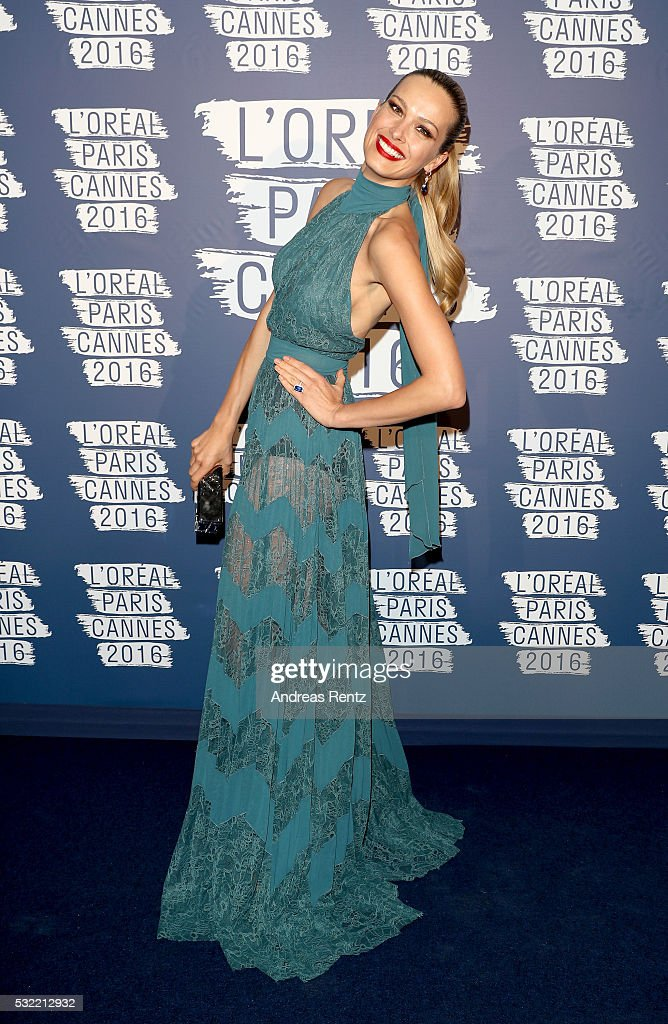 Petra Nemcova attends the L'Oreal Party during the annual 69th Cannes Film Festival at on May 18 2016 in Cannes France