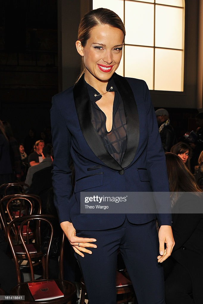<a gi-track='captionPersonalityLinkClicked' href=/galleries/search?phrase=Petra+Nemcova&family=editorial&specificpeople=201716 ng-click='$event.stopPropagation()'>Petra Nemcova</a> attends the Tommy Hilfiger Fall 2013 Women's Collection fashion show during Mercedes-Benz Fashion Week at the Park Avenue Armory on February 10, 2013 in New York City.