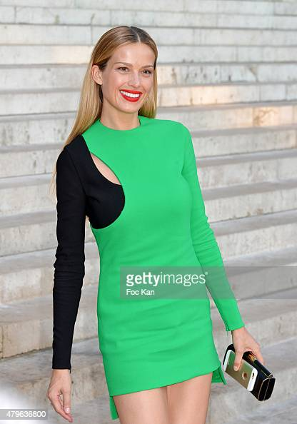 Petra Nemcova attends the Versace show as part of Paris Fashion Week Haute Couture Fall/Winter 2015/2016 on July 5 2015 in Paris France