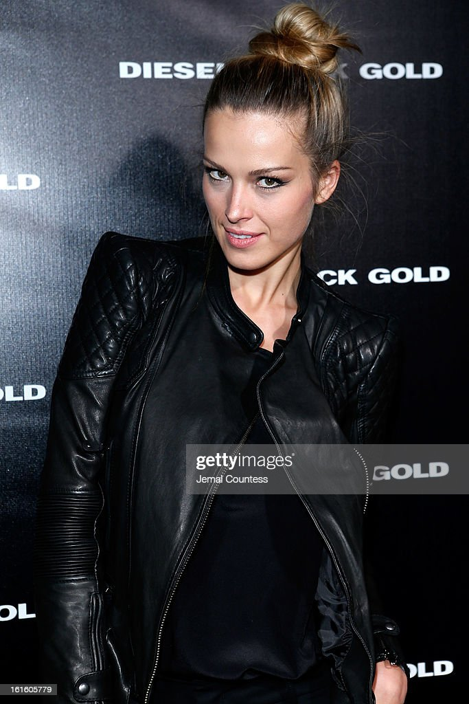 <a gi-track='captionPersonalityLinkClicked' href=/galleries/search?phrase=Petra+Nemcova&family=editorial&specificpeople=201716 ng-click='$event.stopPropagation()'>Petra Nemcova</a> backstage at the Diesel Black Gold Fall 2013 fashion show during Mercedes-Benz Fashion Week at Pier 57 on February 12, 2013 in New York City.