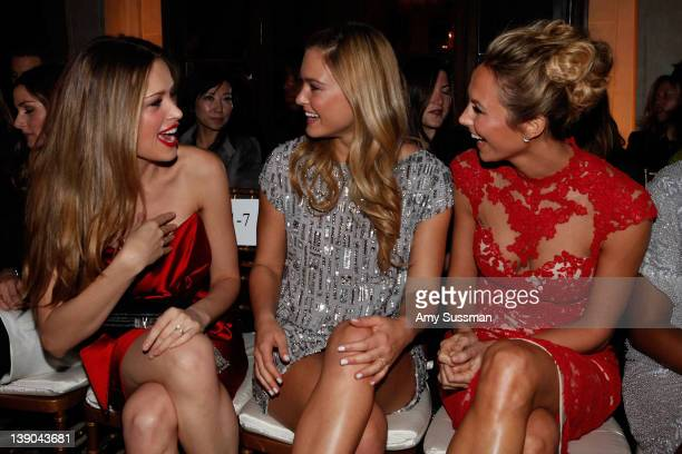 Petra Nemcova Bar Refaeli and Stacy Keibler attend the Marchesa Fall 2012 fashion show during MercedesBenz Fashion Week at The Plaza Hotel on...