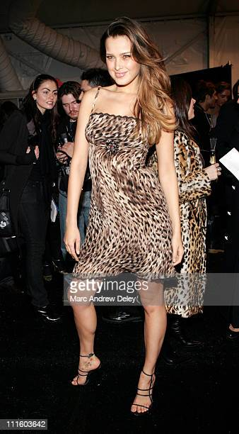 Petra Nemcova during Mercedes Benz Fashion Week Fall 2007 Marc Bouwer Front Row and Backstage at The Salon Bryant Park in New York City New York...