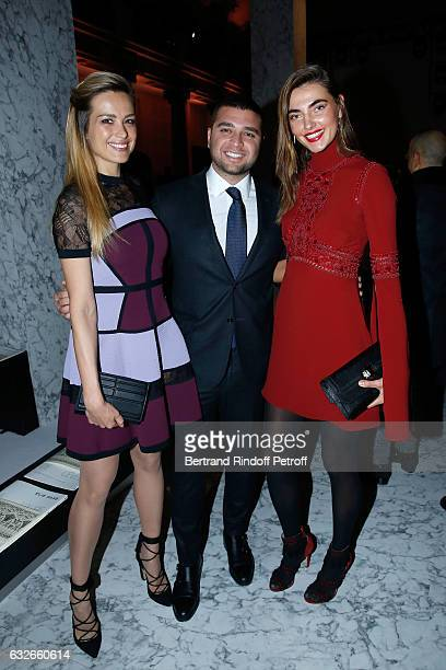 Petra Nemcova Elie Saab Jr and Alina Baikova attend the Elie Saab Haute Couture Spring Summer 2017 show as part of Paris Fashion Week on January 25...