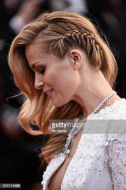 Petra Nemcova hair detail attends the Premiere of 'Youth' during the 68th annual Cannes Film Festival on May 20 2015 in Cannes France
