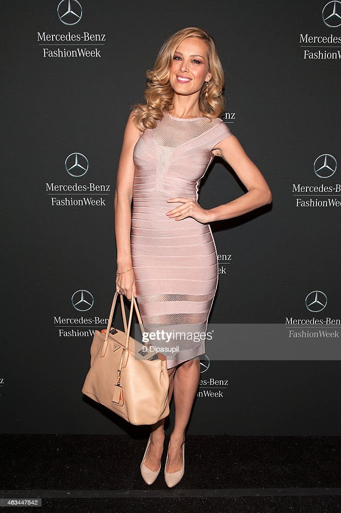 Petra Nemcova is seen during MercedesBenz Fashion Week Fall 2015 at Lincoln Center for the Performing Arts on February 14 2015 in New York City