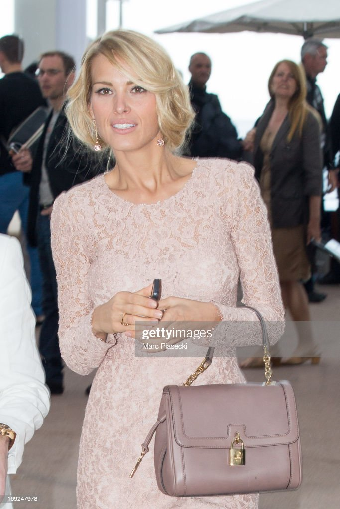 <a gi-track='captionPersonalityLinkClicked' href=/galleries/search?phrase=Petra+Nemcova&family=editorial&specificpeople=201716 ng-click='$event.stopPropagation()'>Petra Nemcova</a> is seen leaving the 'Plage du Martinez' during the 66th Annual Cannes Film Festival on May 22, 2013 in Cannes, France.