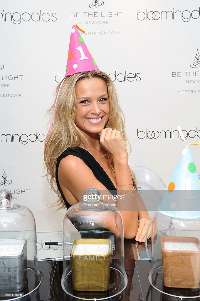 Petra Nemcova launches 'Be The Light New York' Luxury Candles at Bloomingdale's on September 10 2014 in New York City