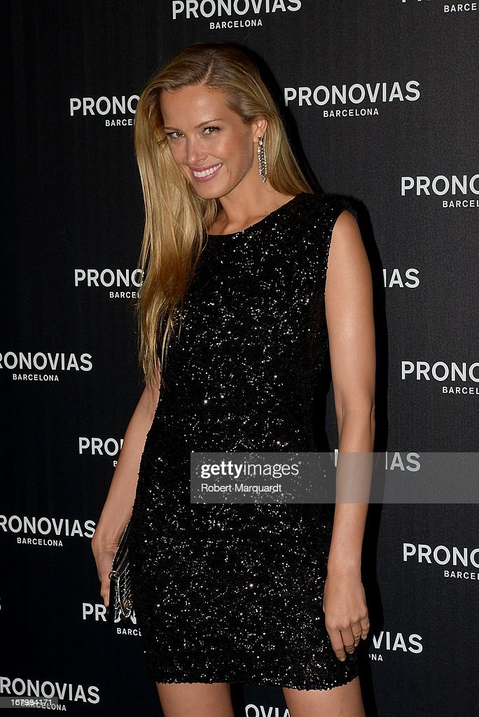 <a gi-track='captionPersonalityLinkClicked' href=/galleries/search?phrase=Petra+Nemcova&family=editorial&specificpeople=201716 ng-click='$event.stopPropagation()'>Petra Nemcova</a> poses for a photocall before the Pronovias bridal fashion show during Barcelona Bridal Week 2013 on May 3, 2013 in Barcelona, Spain.
