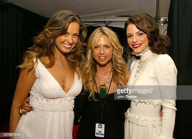 Petra Nemcova Rachel Zoe and Maria Menounos during 2007 GM Style Backstage at GM Pavilion in Detroit Michigan United States