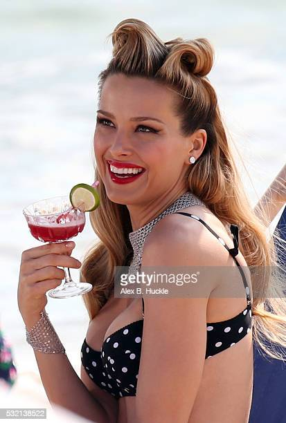 Petra Nemcova seen on a photo shoot at the Martinez Beach during the 69th Annual Cannes Film Festival on May 18 2016 in Cannes France