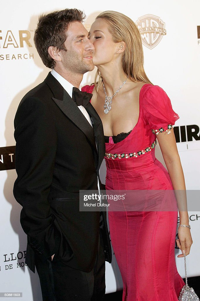 Petra Nemkova and her boyfriend Simon Atlee arrive at 'Cinema Against AIDS 2004', the 11th annual event in aid of amfAR (American Foundation for AIDS Research) at Le Moulin de Mougins at the 57th Cannes Film Festival on May 20, 2004 in Cannes, France.
