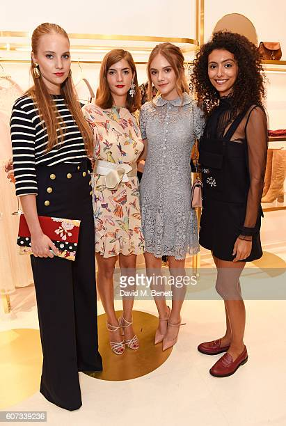 Petra Palumbo Lana Palumbo Emilia Jones and Isabella Calliva attend as RED Valentino celebrates the opening of their first London flagship store...
