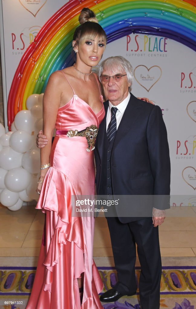 Petra Stunt (L) and Bernie Ecclestone attend the inaugural fundraising dinner for The Petra Stunt Foundation in aid of PS Place at the Corinthia Hotel London on June 19, 2017 in London, England.