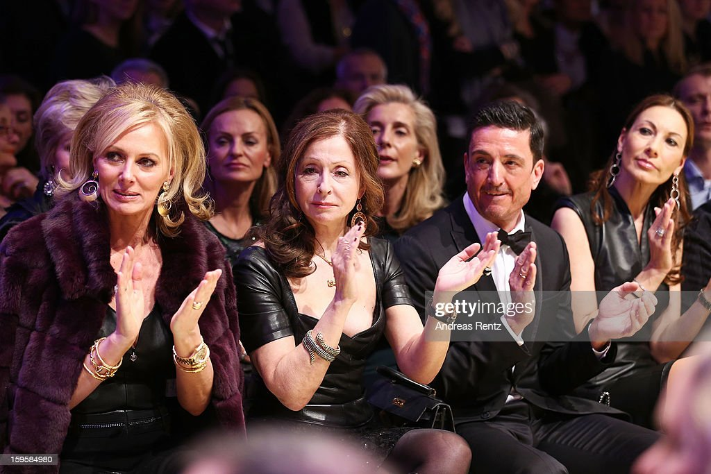 Petra van Bremen, Vicky Leandros and Dagmar Koegel attend Basler Autumn/Winter 2013/14 fashion show during Mercedes-Benz Fashion Week Berlin at Hotel De Rome on January 16, 2013 in Berlin, Germany.